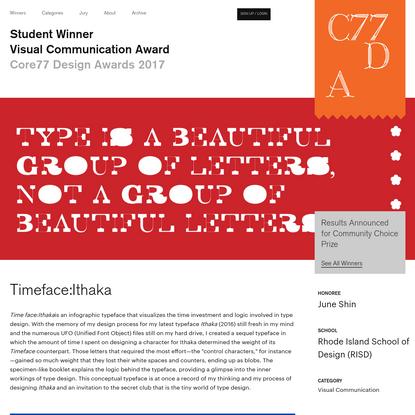 Timeface:Ithaka - by June Shin / Core77 Design Awards