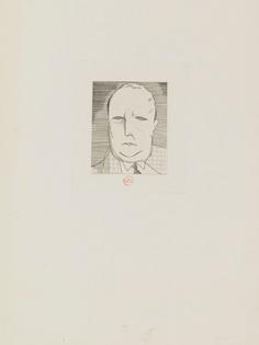 Jean-Émile Laboureur: Petit portrait de l'artiste, 1928
