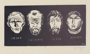 Félix Vallotton: Cæsar, Socrate, Iesus, Neron (1892)
