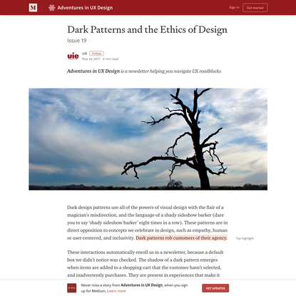 Dark Patterns and the Ethics of Design