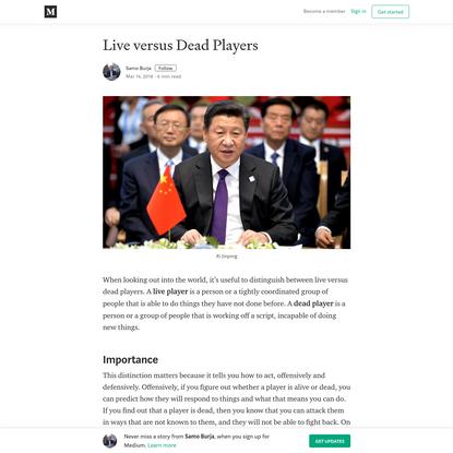 Live versus Dead Players