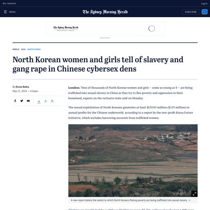 North Korean women and girls tell of slavery and gang rape in Chinese cybersex dens