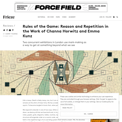 Rules of the Game: Reason and Repetition in the Work of Channa Horwitz and Emma Kunz