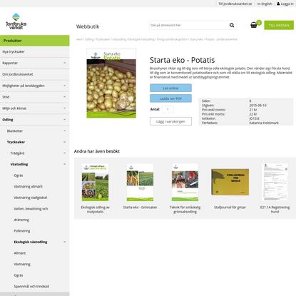 Starta eko - Potatis - Jordbruksverket