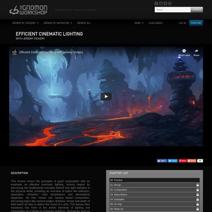 Efficient Cinematic Lighting | The Gnomon Workshop