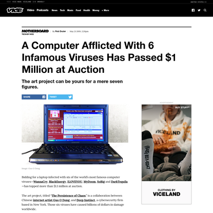 A Computer Afflicted With 6 Infamous Viruses Has Passed $1 Million at Auction - VICE