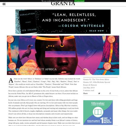 How to Write About Africa   Binyavanga Wainaina   Granta