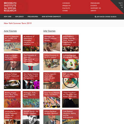 Courses - Brooklyn Institute for Social Research
