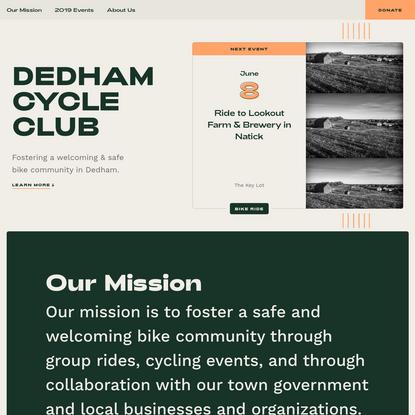 Dedham Cycle Club