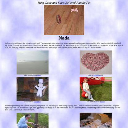 Gene and Sue's Virtually Perfect Best Friend Nada