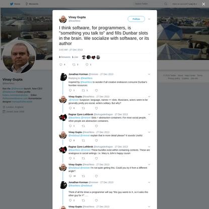 Vinay Gupta on Twitter