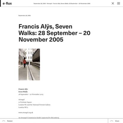 Francis Alÿs, Seven Walks: 28 September - 20 November 2005