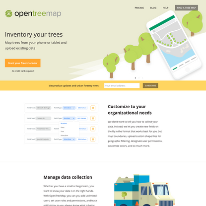 OpenTreeMap - Create greener communities and explore our urban forests, together