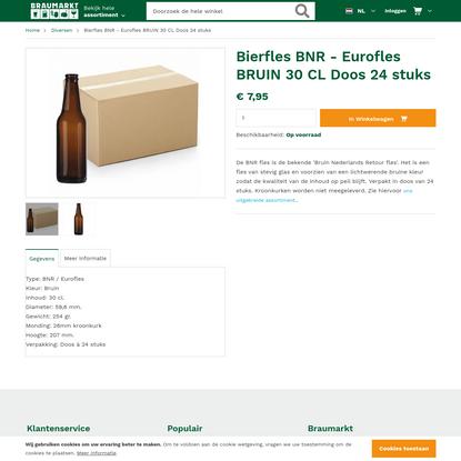Bierfles BNR - Eurofles BRUIN 30 CL Doos 24 stuks