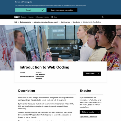 Introduction to Web Coding