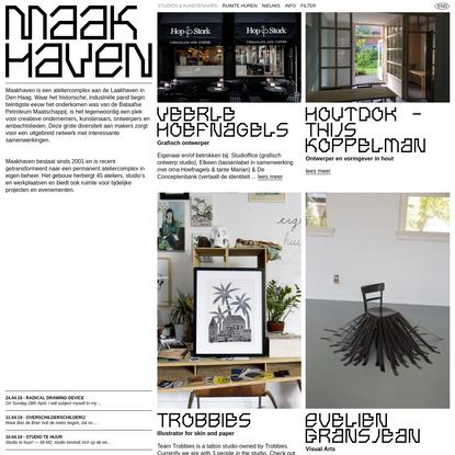 Studios & Kunstenaars | Maakhaven