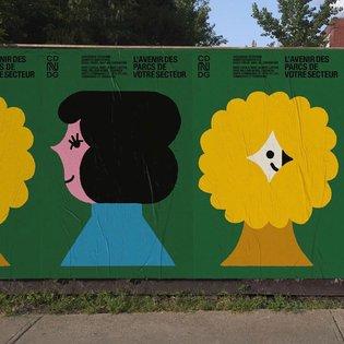WoW quelle belle campagne publicitaire ! Imaginer et réfléchir l'avenir des parcs du district Loyola @cdn_ndg 🌼 Belle collab...