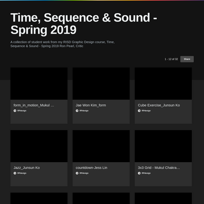 Time, Sequence & Sound - Spring 2019 on Vimeo