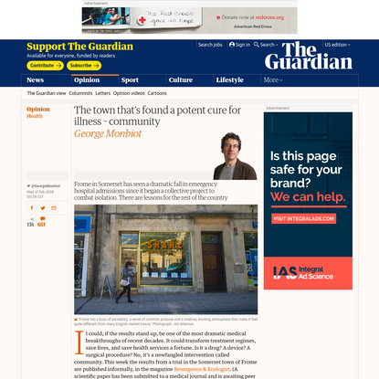 The town that's found a potent cure for illness - community | George Monbiot