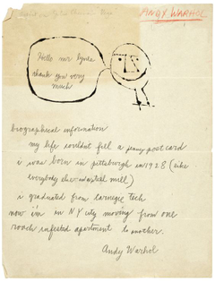 Andy Warhol to Russell Lynes