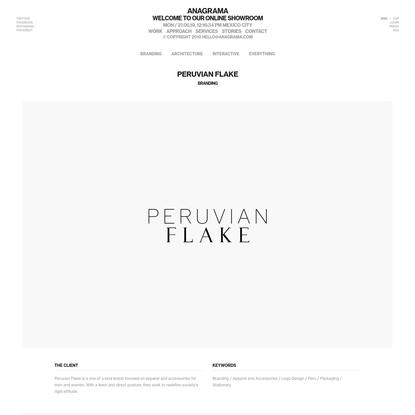 Peruvian Flake   Anagrama