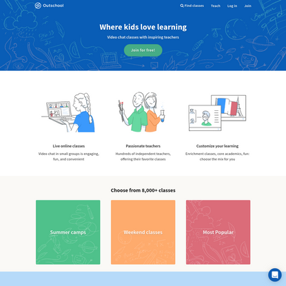 Outschool: Small Online Classes for K-12 Learners