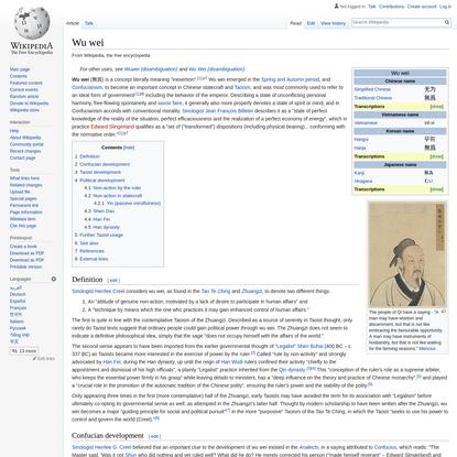 Wu wei - Wikipedia