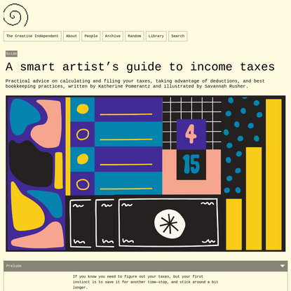 A smart artist's guide to income taxes