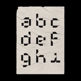 Experimental lower case set pt. 1 → a-i → slide for single letter up close views.