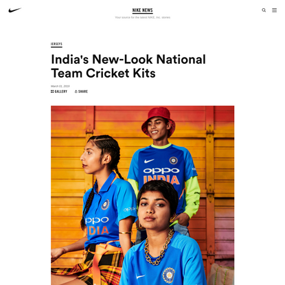 India's New-Look National Team Cricket Kits