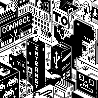 The 1-bit city by polyducks
