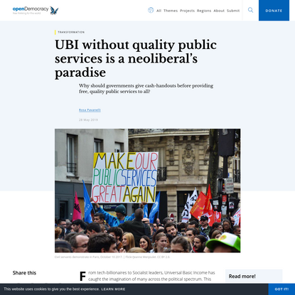 UBI without quality public services is a neoliberal's paradise