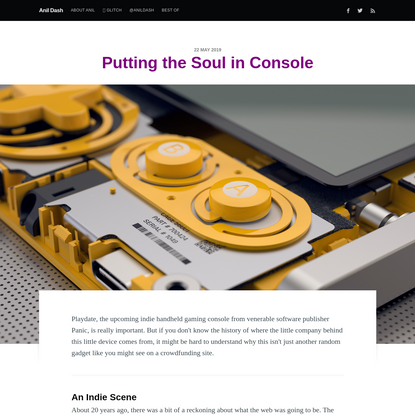 Putting the Soul in Console