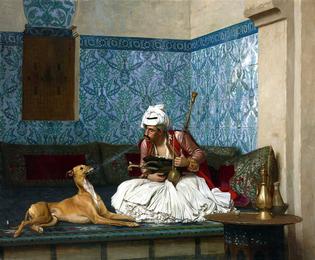 Arnaut and his dog, by Jean-Léon Gérôme