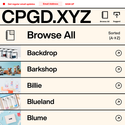 CPGD.XYZ - The Consumer Packaged Goods Directory - Browse All