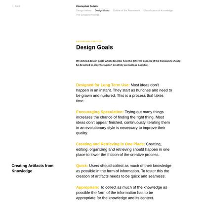 Artifacts - A Human-Centered Framework for Growing Ideas
