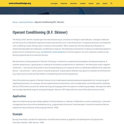 Operant Conditioning (B.F. Skinner) - InstructionalDesign.org