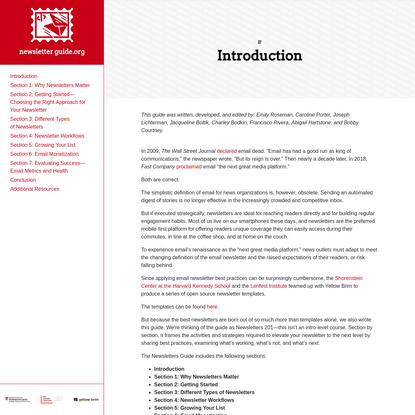 Newsletter Guide.org