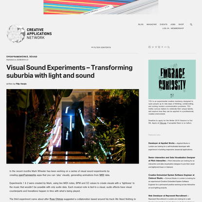 Visual Sound Experiments - Transforming suburbia with light and sound