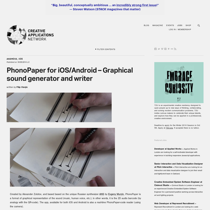 PhonoPaper for iOS/Android - Graphical sound generator and writer