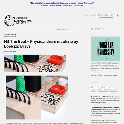 Hit The Beat - Physical drum machine by Lorenzo Bravi