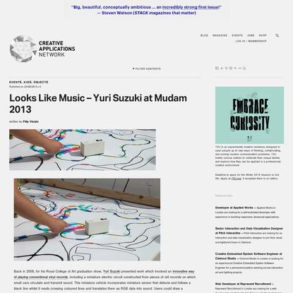 Looks Like Music - Yuri Suzuki at Mudam 2013