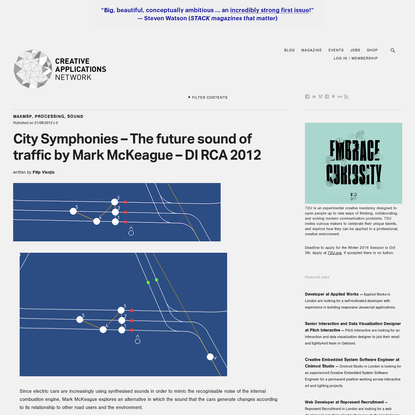 City Symphonies - The future sound of traffic by Mark McKeague - DI RCA 2012
