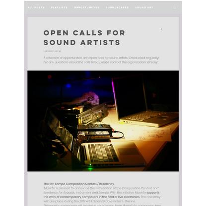 Post   HOME    LA COSA PREZIOSA sound artist   Soundscapes : field recording