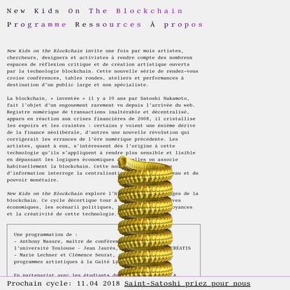 New Kids On The Blockchain