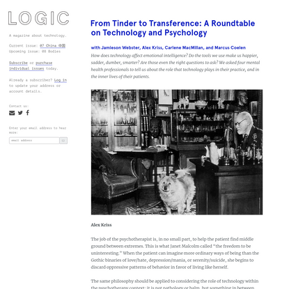 From Tinder to Transference: A Roundtable on Technology and Psychology