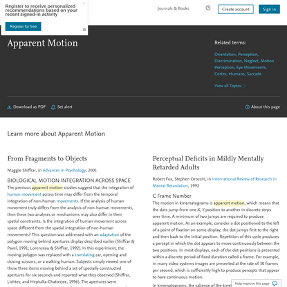 Apparent Motion - an overview | ScienceDirect Topics