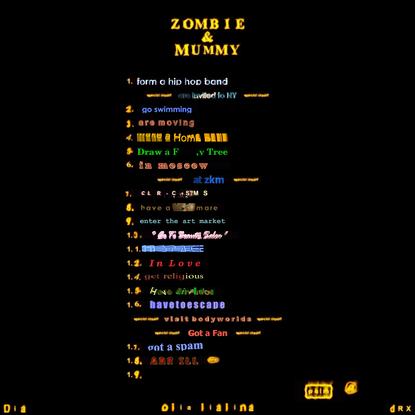 ZOMB I E & MUMMY