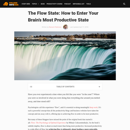 The Flow State: How to Enter Your Brain's Most Productive State