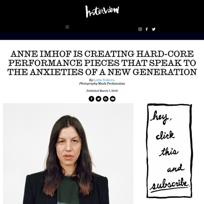 Anne Imhof is Creating Hard-Core Performance Art for a New Generation